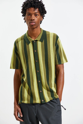 Urban Outfitters Silas Short Sleeve Button-Front Sweater