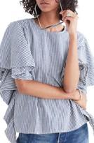 Madewell Women's Stripe Butterfly Sleeve Top