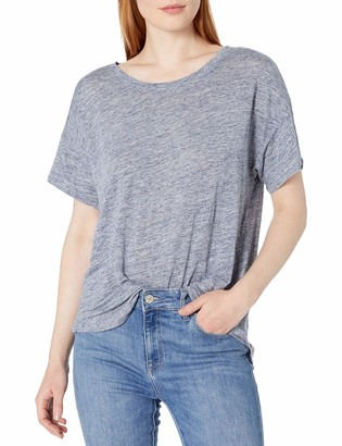 Velvet by Graham & Spencer Women's Linen Knit Crop Tee