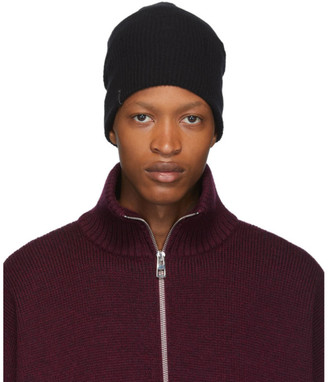 Mackage Black Wool and Cashmere Tazio-R Beanie