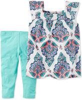 Carter's 2-Pc. Tank Top & Capri Jeans Set, Toddler Girls (2T-4T)