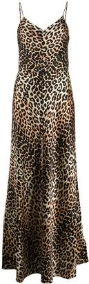 Ganni Leopard Print Maxi Dress