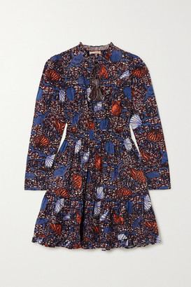 Ulla Johnson Ismaya Ruffled Printed Cotton Dress - Blue