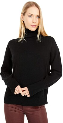 J.Crew Cashmere Turtleneck (Black) Women's Clothing