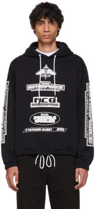 McQ Black Drawstring Hoodie