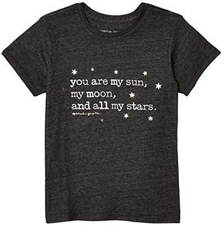 Spiritual Gangster Kids Stars Tee (Toddler/Little Kids/Big Kids) (Vintage Black) Girl's T Shirt