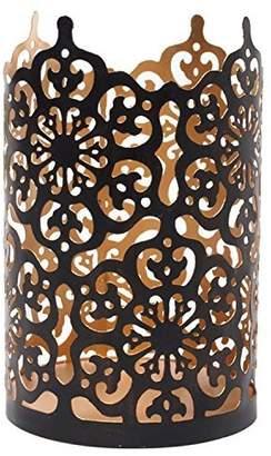 """Hosley Flower 7"""" High Cut Bronze LED/Votive/Tealight Holder/Lantern. Ideal Gift for Wedding"""