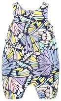 Margherita Kids Blue Butterfly Print Romper