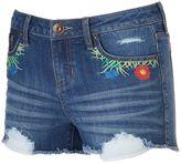 """Rampage Juniors' Sophie """"Flower Child"""" Denim Shortie Shorts"""