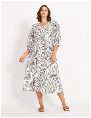 Basque Seersucker Dress