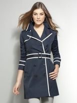 New York & Co. Piped Trench Coat