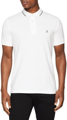 French Connection Men's Summer Black Tipping Polo Shirt