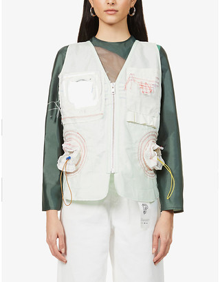 pushBUTTON x Hyundai Re:Style patch-pocket upcycled shell gilet