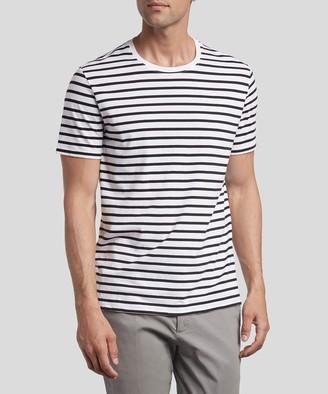 Atm Classic Jersey Crew Neck Tee - Black/ White Stripe