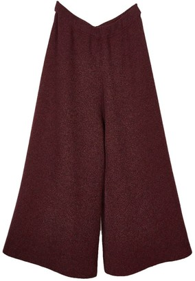 Oyuna Liv Cashmere Skirt Trousers In Wine Mix / Wine Mix & Flame