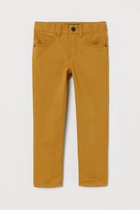 H&M Regular Fit Twill Pants - Yellow