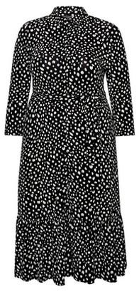 Dorothy Perkins Womens Dp Curve Black And White Spot Print Shirt Dress