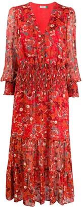 Rixo Maya Klimt Swirl-print dress