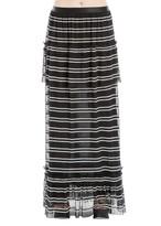 Max Studio Striped Long Skirt