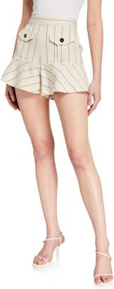 Alexis Norwood Striped Flounce Shorts