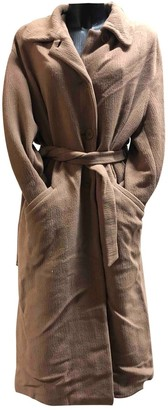 Emporio Armani Beige Wool Coat for Women Vintage