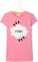 Fendi Cloud T-shirt - kids - Cotton/Spandex/Elastane - 14 yrs
