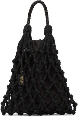 Prada Black Cord Net Tote