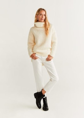 MANGO Straight crop Sayana jeans white - 1 - Women