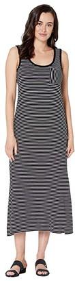 Calvin Klein Stripe Maxi w/ Pocket (Black/White) Women's Clothing
