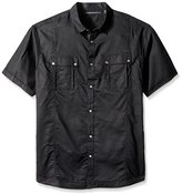 Sean John Men's Big and Tall Short Sleeve Linen Shirt