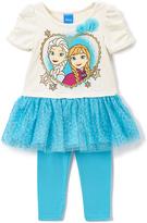 Children's Apparel Network Blue Frozen Elsa & Anna Top & Leggings - Toddler & Girls