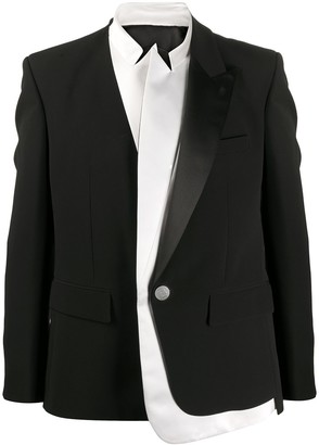Balmain Layered Long-Sleeve Blazer