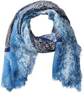 Armani Jeans Women's Python Printed Light Weight Scarf