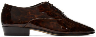 Saint Laurent Brown Patent Leon Derbys