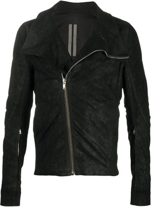 Rick Owens Fitted Suede Leather Jacket