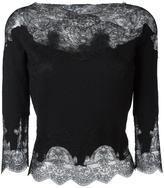 Ermanno Scervino lace detailing blouse - women - Wool/Cashmere/Silk/Polyamide - 40