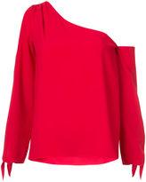 Amanda Uprichard one shoulder blouse