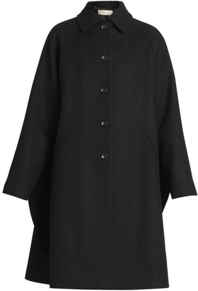 Alaia Cascade Virgin Wool Swing Coat
