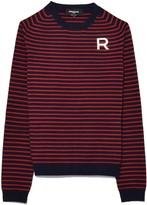 Rochas Stripe R Pullover in Navy