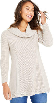 Style&Co. Style & Co Mixed-Stitch Cowlneck Tunic