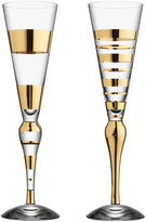 Kosta Boda Orrefors Clown Champagne Flutes, Set of 2