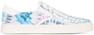 Amiri Skeletal tie-dye slip-on sneakers
