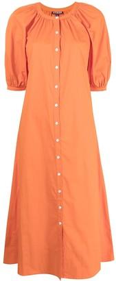 STAUD Vincent cotton poplin dress