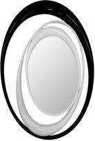 Houseology Adonis Pauli Full Circle Mirror - White Decape