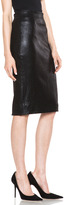 Cushnie et Ochs Sparkle Stretch Leather Skirt in Black