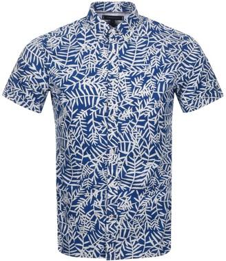 Tommy Hilfiger Short Sleeved Leaf Shirt Blue