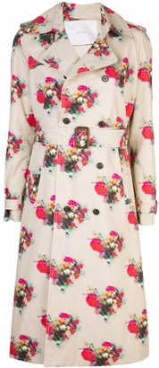 Adam Lippes Floral Print Trench Coat