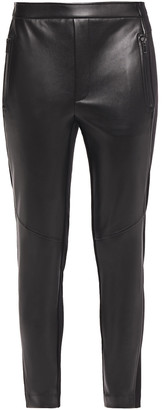 Bailey 44 Frances Cropped Faux Leather And Stretch-jersey Leggings