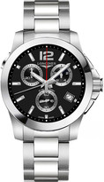 Longines L37024566 Conquest stainless steel automatic chronograph watch