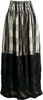 Comme Des Garçons Pre-Owned 1990s Panelled Maxi Skirt